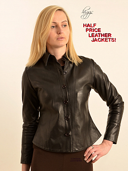 Higgs Leathers SOLD!  Papina (ladies short Black Leather jacket)
